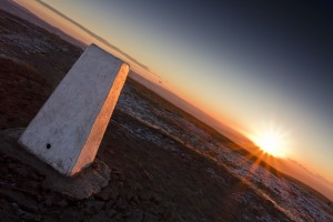 Pendle Hill trig Point Marker