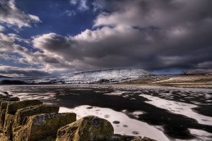 image of a freezing Pendle Hill