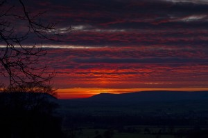 Image of Pendle Hill sunset