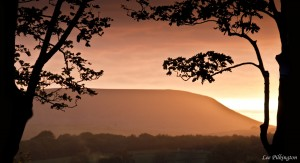 Pendle Hill sunset