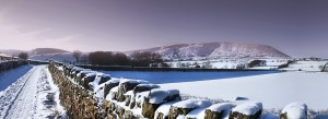 Blass Moss Pendle panoramic image - Burnley