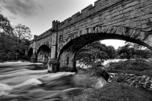 Barden bridge river Wharfe