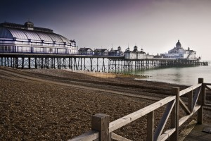 Stock image of Eastbourne pier and beach