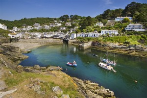 Stock tourism images for Polperro Cornish fishing village