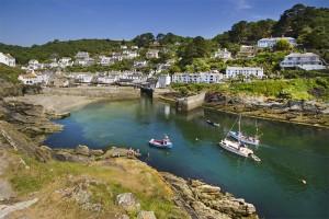 Stock tourism images for Polperro Cornish fishing village