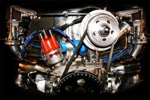 Classic Beetle and Van engine art photo image