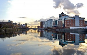 stock image of Salford Quays Manchester