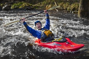 Whitewater kayaking Washburn Yorkshire